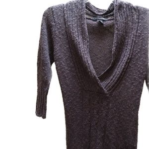 NWOT 52 Weekends gray with metallic detail top